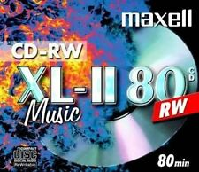 50 Maxell Rohlinge CD-RW Audio 80 Minuten Musik Jewelcase