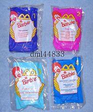 1998 McDonalds Barbie MIP Complete Set - Lot of 4, Girls, 3+