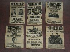 """1:6 scale """"OLD WEST"""" POSTER SET"""