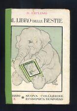 R.Kipling,Il libro delle bestie,Bemporad & Figlio 1927  R