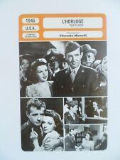 CARTE FICHE CINEMA 1945 L'HORLOGE Judy Garland Robert Walker James Gleason Keena