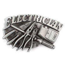 Vintage Electrician Belt Buckle Western Cowboy Native American (ELT-01)