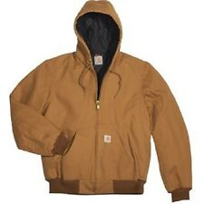 Carhartt Jackets: Mens J140 BRN Flannel Lined Duck Active Jacket Size 3XL