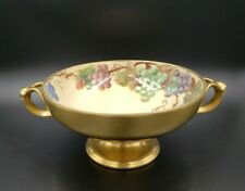 """ANTIQUE ROSENTHAL 9.5"""" HAND PAINTED & SIGNED FRUIT BOWL GOLD OVERLAY   30"""