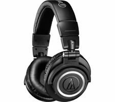 AUDIO TECHNICA ATH-M50XBT WIRELESS BLUETOOTH RECHARGEABLE HEADPHONES BLACK
