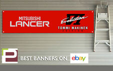 MITSUBISHI LANCER EVO IV Tommi Makinen Edition Garage banner per officina, EVO