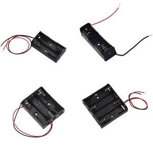 Batteriehalter 1, 2, 3, 4, 5, 6 Mignon AA Batterien m. Leitung Battery box case