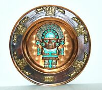 """Vintage Peruvian Tumi Copper Wall Hanging Plate Authentic Artisan Made Art 11.5"""""""