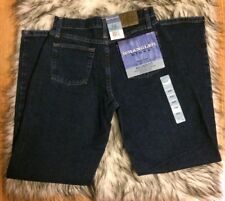 NEW WOMENS WRANGLER BLUE RELAXED FIT JEANS SIZE 2 x 32