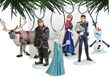 Disney's Frozen Holiday Ornament Set- (6) PVC Figure Ornaments Included, New