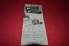 John Deere 40 Utility Tractor & 47 Heavy Duty Mower Dealer Brochure DCPA3