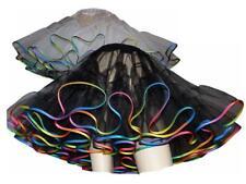 Petticoat Organdy schwarz oder weiß regenbogen mehrfarbig bunt