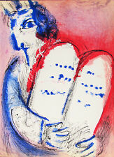 CHAGALL - MOSES  - VERVE ORIGINAL LITHOGRAPH 1956 - FREE SHIP IN US !!!