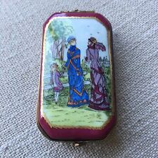 S&D Fine Collectibles Country Pastoral Ladies Trinket Box from Limoges France