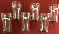 """SET of 6 VINTAGE """"COCA-COLA"""" 8-oz. Bell-Shaped Clear Glasses by Libbey ~ 5"""" Tall"""