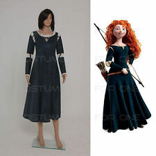 Brave Princess Merida Shirt Cosplay Costume Fancy Dress Disney Tailored