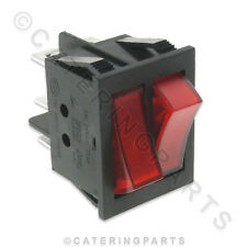 SW58 DUAL TWIN RED ILLUMINATED ROCKER SWITCH HEATED DISPLAY MERCHANDISERS