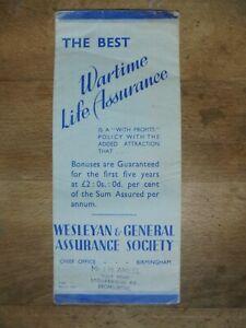 WARTIME LIFE INSURANCE BROCHURE 1940