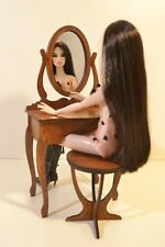 Make Up Dressing Table with mirror 1/6 scale for Barbie FR 1/6 1:6 dollhouse V01