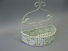 Metal Wall Basket Flower Decor Shelf cabby chic 32CM Bathroom