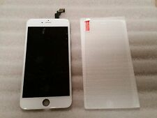 Iphone 6 Plus + White LCD Digitizer Screen VERIZON AT&T 5.5 & Tempered Glass