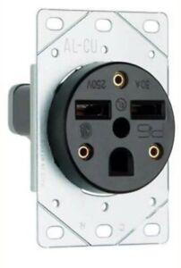 Legrand 3801CC6 Flush Outlet 30-Amp 250-volt