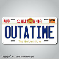 Back to the Future  Delorean OUTATIME Replica Prop Aluminum License Plate Tag