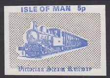 IOM VICTORIAN STEAM RAILWAY : 1971 5p cornflower blue & grey-sans serif value