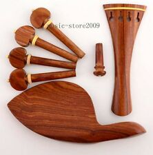 French style Violin parts accessories rosewood tailpiece chinrest pegs endpin