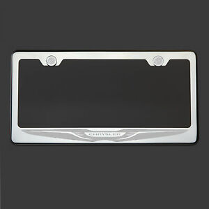 Mirror Chrome Chrysler Logo Laser Etched 304 Stainless Steel License Plate Frame
