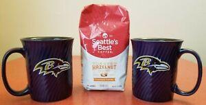 Baltimore Ravens NFL Classic Purple Team Logo Coffee & Coffee Mug Set