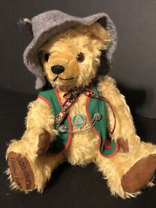 VINTAGE 1995 HERMANN GERMANY OCTOBERFEST MOHAIR BEAR #3817 of 8000 Growler