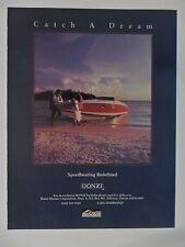 1986 Print Ad Donzi MerCruiser Speed Boating ~ Catch a Dream Wedding