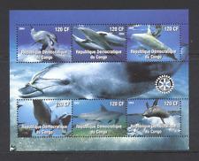 Congo 2004 DOLPHINS/Marine/Rotary 6v sht ref:n11935