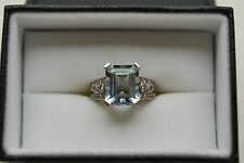 Le Vian 14k Gold 4.25 ct Aquamarine and Diamond Ring