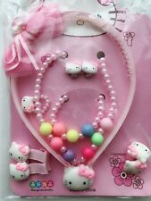 Girls Kids Children Hello Kitty Necklace Bracelet earring headband birthday Gift