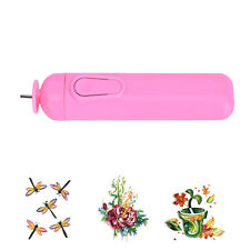 DIY Electric Slotted Paper Craft Paper Quilling Tool Winder Steel Curling Pen KY