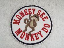 "Monkey See Monkey Do 4"" Embroidery Iron-on Custom Patch (E5)"