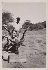 Safari Hunt Photograph w/ Handwritten Note by Ernest Hemingway - COA RR Auction
