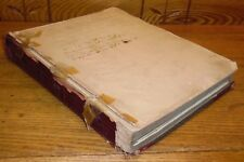 Antique School Board Meeting Minutes Record Book - New Garden Chester Co PA