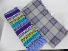 Lot of 2 Scarf OLD NAVY Infinity Gray Red Blue Purple Green Aqua Cozy Winter NWT
