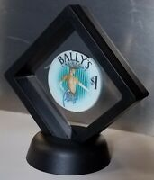 BALLY'S CASINO $1 POKER CHIP DISPLAY FRAMED SOUVENIR GIFT PRESENT LAS VEGAS NV