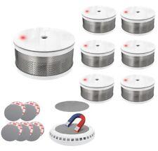 7 x Design Mini Rauchmelder Rauchalarm Brandmelder ohne bohren CORDES CC 7 weiß