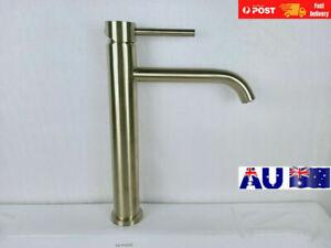 Brushed Gold Tall Basin Mixer Tap Vanity Faucet  Water saving Lead Free NAISI