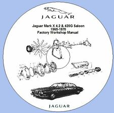 Jaguar Mark X 4.2 & 420G 1965-1970 Factory Workshop Manual + Luca