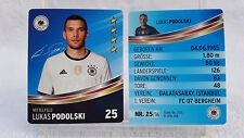 REWE Fussball EM 2016 EURO Sammelkarte  Nr. 25 Lukas PODOLSKI