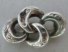 Victoriano Plata Amantes Nudo Broche 3.4cm Ancho A596717
