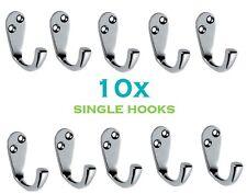 10 x Joblot Chrome Plated Single Robe Hook Hanger Coat DIY Bathroom Hooks