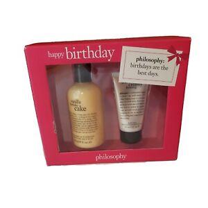 Philosophy Happy Birthday Shampoo Shower Gel Bubble Bath Lotion Gift Box Damage