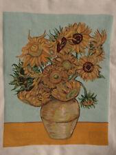 Cross-stitch Handmade ART Replica Sunflowers Vincent van Gogh